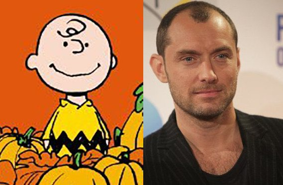 celebrity lookalikes charlie brown_jude law