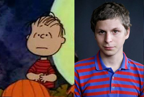 Michael Cera Linus side by side