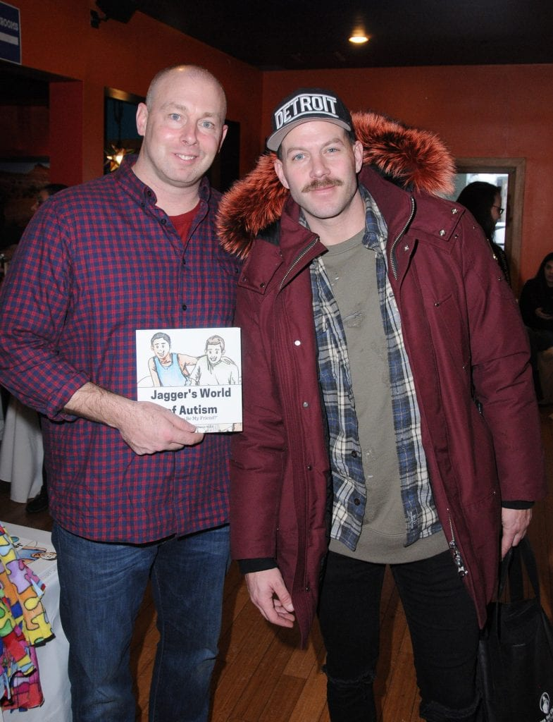 PARK CITY, UT - JANUARY 21: Author Dennis Vanasse and stylist Johnny Wujek attend EcoLuxe Lounge Ten Years at Sundance on January 21, 2017 in Park City, Utah. (Photo by Vivien Killilea/Getty Images for EcoLuxe)