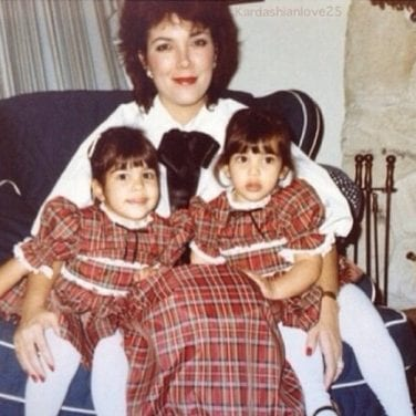 Kardashian throwback holiday photo