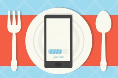 New Theory Magazine iPhone loading on plate