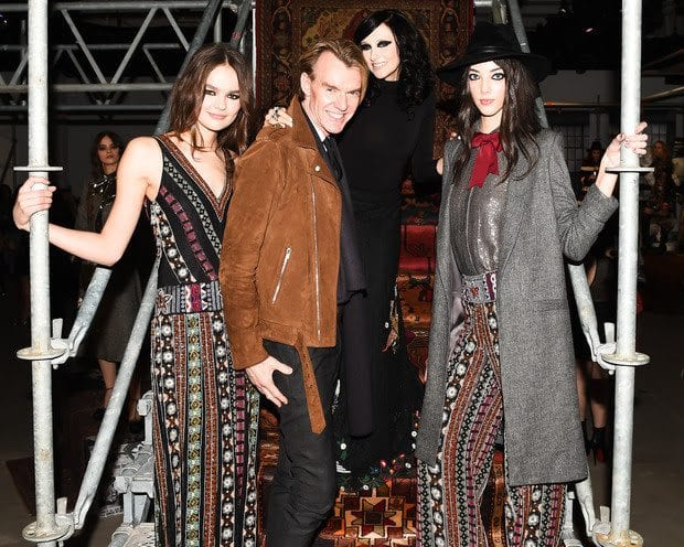 Ken Downing & Stacey Bendet at the alice + olivia Fall 2016 presentation during New York Fashion Week