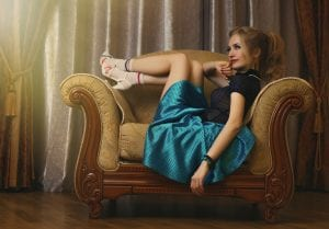 Woman shows off her pin up girl personal style