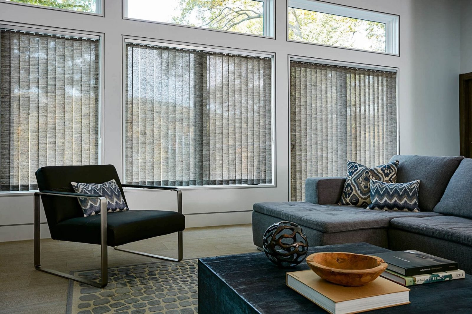 How to buy blinds and shades new theory magazine - Living room window treatments for large windows ...